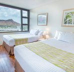 Bedroom with view of Diamond Head