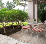 Private lanai offer outdoor dining