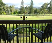 Lovely golf course view from the condo deck.