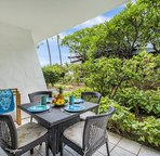 Large lanai offers outside dining