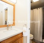 18th floor - 1 bedroom condo.    Bathroom with dual entrance (from living room and bedroom) and walk in shower.