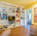 TV room leading into the master bedroom.