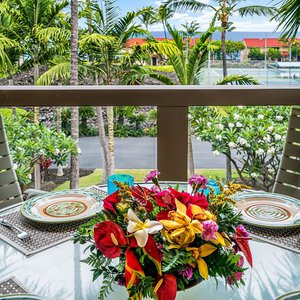 Lanai offers Ocean Views and Outside Dining