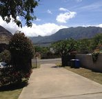 A View of the Waianae Mountains from the Back of the Home