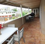 Great covered lanai for bbqing.  Has propane grill