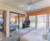 Bedroom includes a Ceiling Fan and TV