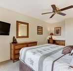 Master Bedroom with Queen Bed and Large Flat Screen TV