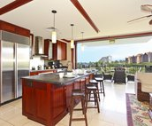 Your Large, Open Kitchen with a View of the Resort