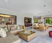 Large Covered Lanai with Plenty of Seating
