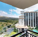 Panoramic view of the mountain pool and ocean from various lanai in your room