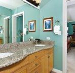 Tropical Themed Master Bathroom