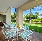 Spacious lanai set up for relaxing and outside dining