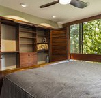 Guest Bedroom with Custom Closet and Mahogany Doors