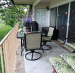 Spacious lanai - grill in the background