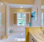 Master Bath has a Large Soaking Tub and a Walk-in Shower