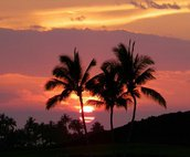 Another beautiful sunset from the lanai!