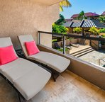 Lanai accessible from living area and bedroom
