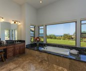Master Bath Jacuzzi Tub with Ocean Views
