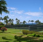 8 tennis courts available for our guests, small court fee