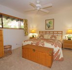 Bedroom offers a King bed
