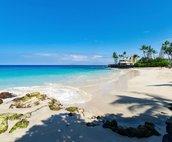 La'aloa Beach Park (Kona Magic Sands) is located directly across the street