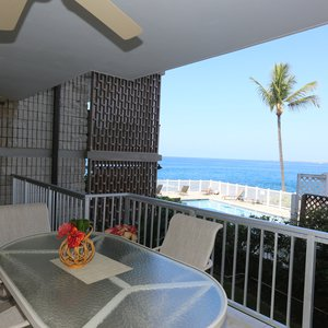 Spacious Lanai with Ocean Views