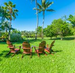 Lush backyard perfect for relaxing and bathing in the Hawaiian sun!