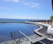 Complex ocean front salt water pool
