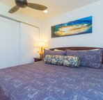 Ceiling fan and window help keep you comfortable as you enjoy your stay in paradise!