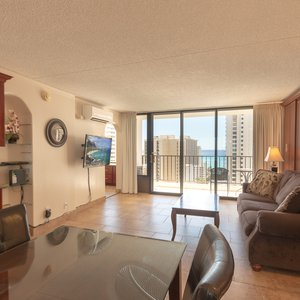 This unit is very unique, it has amenities that most units do not have, for your peace and quiet, such as central air, instead of noisy in-efficient window AC, which are in 99% of the units, sound proof windows (no other units have this) black out drapes. Totally remodeled, amazing views of the ocean,very close to the beach, etc.