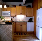 Full kitchen with all your home conveniences