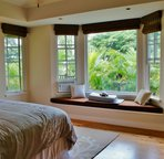 Bedroom 4 with View and Entry to Pool