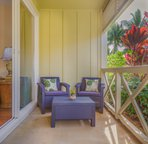 Several lanai spaces to read books or just enjoy the tradewinds.