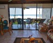 Living area looking towards ocean