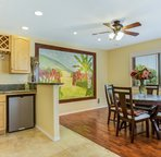 Dining Room off Kitchen Opens to Lanai