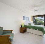 Spacious bedroom with seating!