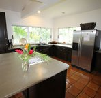 Spacious kitchen with propane cooktop