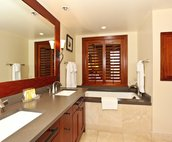 The European Style Master bath has both a Large Soaking Tub and a Separate Walk-in Shower