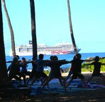Walk to the beachfront drop-in yoga class; yoga mats supplied