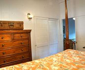 Guest bedroom showing dresser