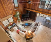 Eagle Eye View of the Living Area from the Second Floor