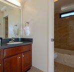 Updated vanity and bathroom area