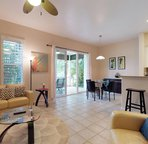 The Home has an Open Feeling Living Area with Comfortable Leather Seating