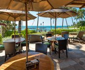 Dining Tables at the Beachfront Bar