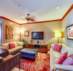Your Comfy Living Area with Leather Sofa and Loveseat