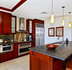 A View of the Kitchen Showing the Stainless Steel Appliances