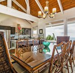 Ocean views while you eat in with the whole family