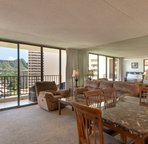 Dining and sitting area that opens up to the lanai/balcony