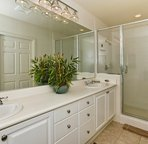 Large Master Bath with Walk-in Shower and Dual Sinks