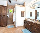 Master Bathroom with huge walk-in shower